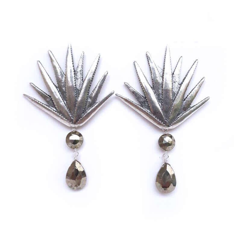 joyas mexicanas gabriela sanchez agave realista con pirita