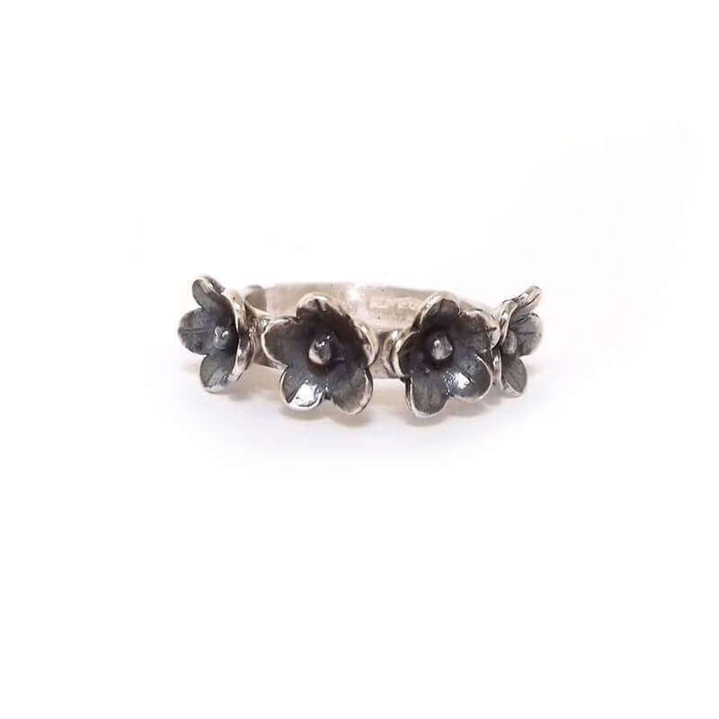 joyas mexicanas gabriela sanchez anillo florecitas