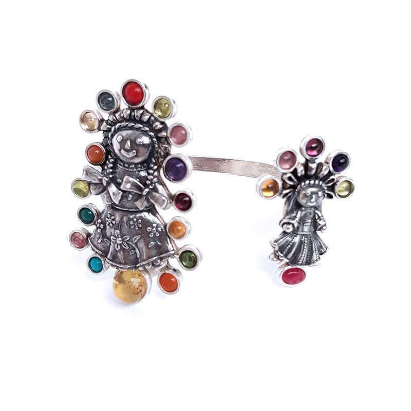 joyas mexicanas gabriela sanchez brazalete muneca de colores