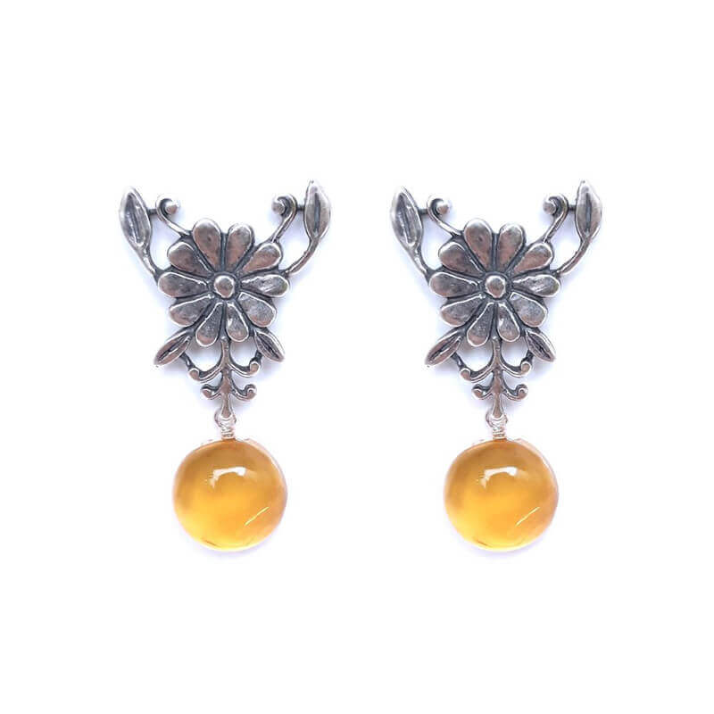 joyas mexicanas gabriela sanchez flor pistilos ambar