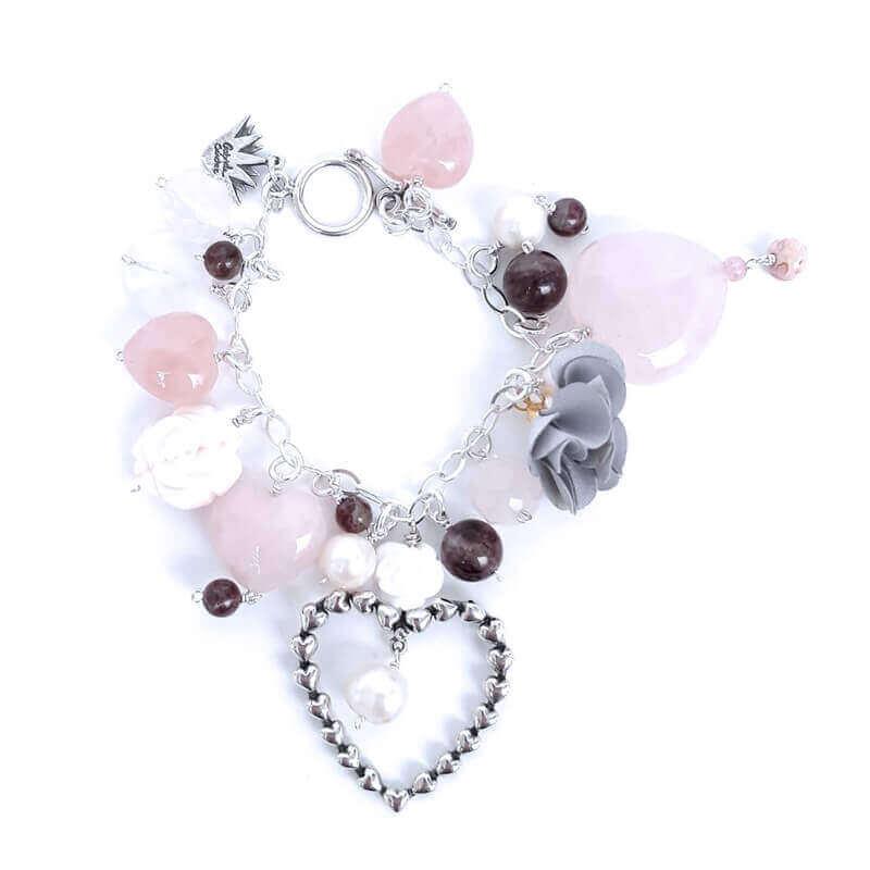 joyas mexicanas gabriela sanchez pulsera guia de corazones rosas