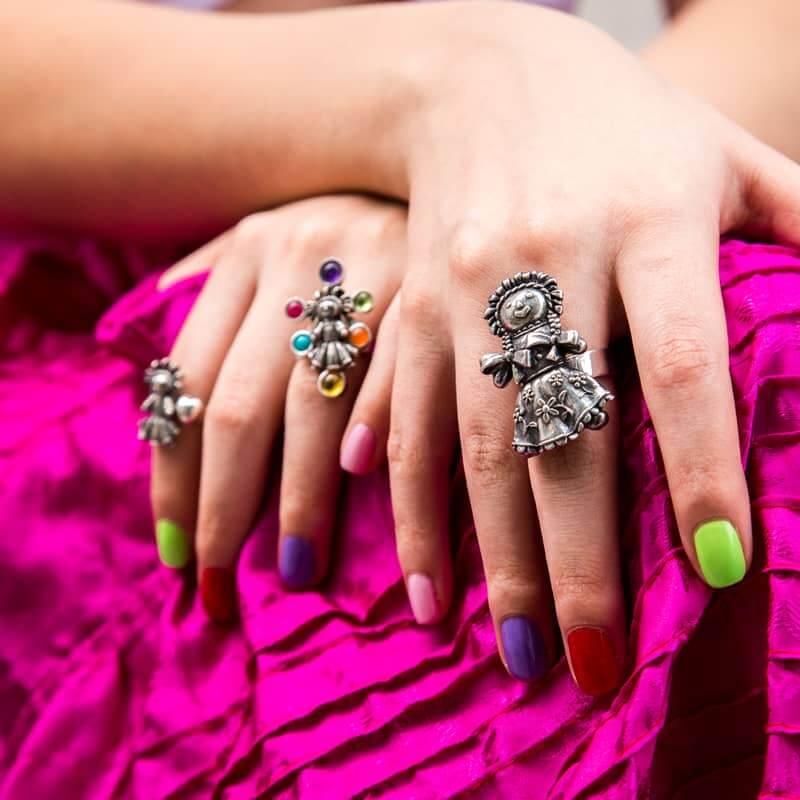 joyas mexicanas gabriela sanchez anillo muneca de listones grande gabriela sanchez
