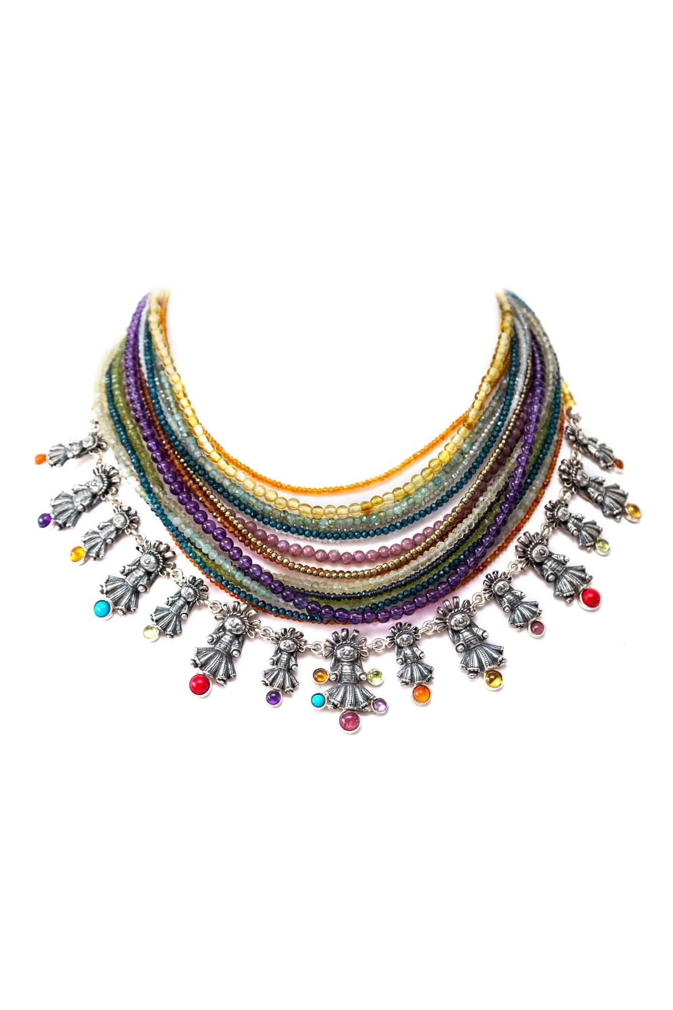 joyas mexicanas gabriela sanchez collar amigas de colores collar gabriela sanchez