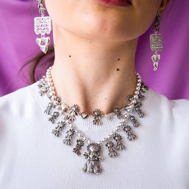 joyas mexicanas gabriela sanchez collar munecas de plata gabriela sanchez