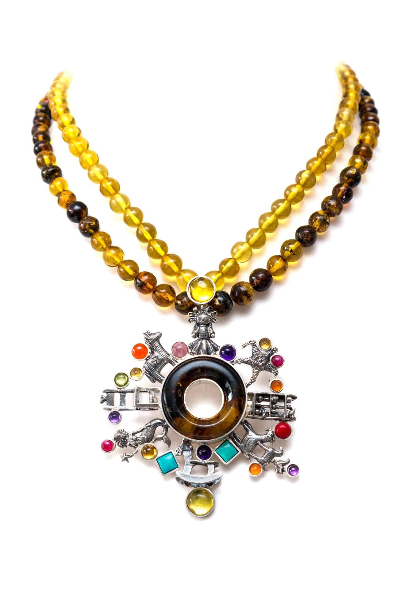 joyas mexicanas gabriela sanchez collar rueda de juguetes mexicanos collar gabriela sanchez