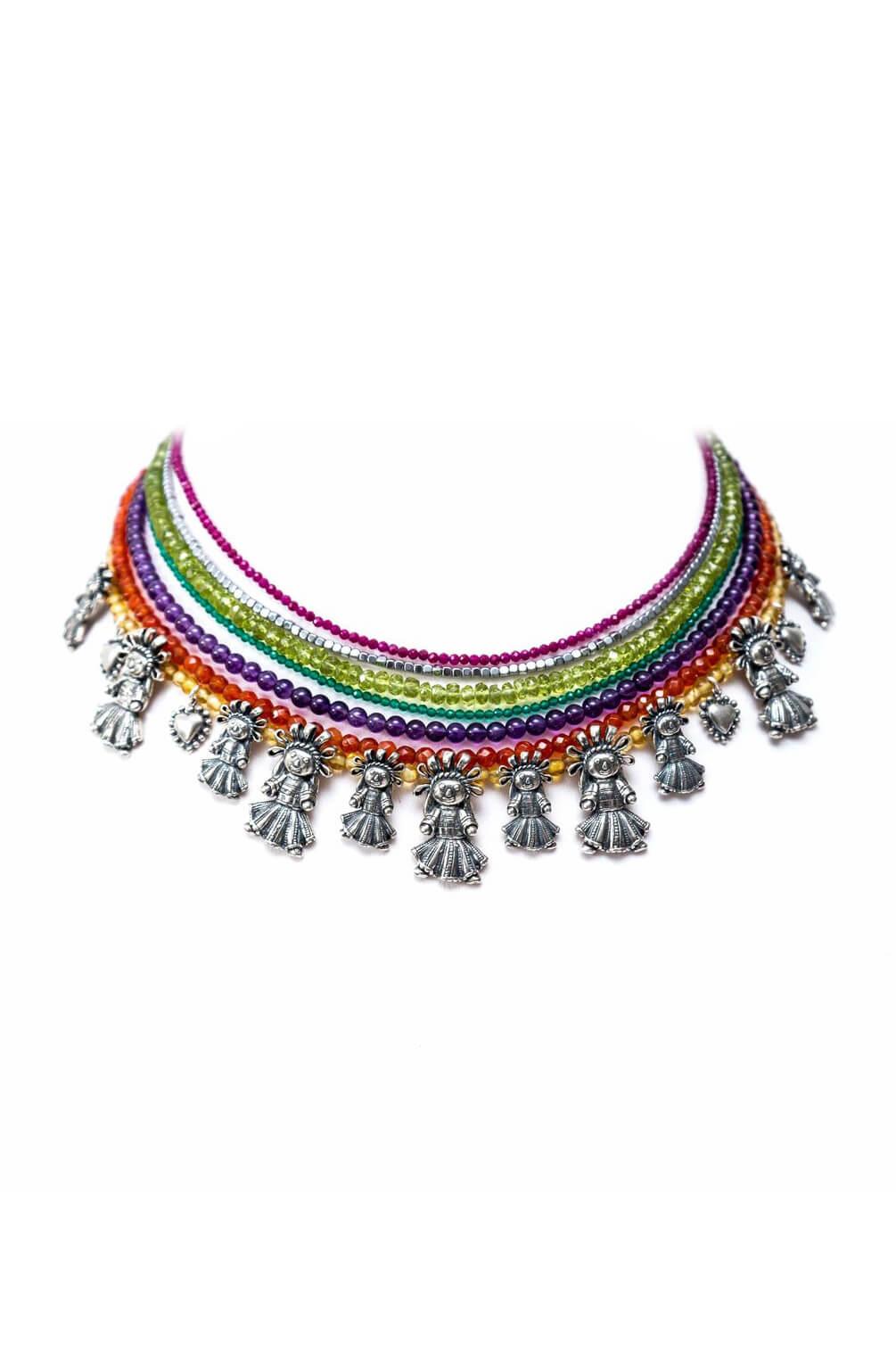 joyas mexicanas gabriela sanchez gargantilla munecas de alegria collar gabriela sanchez