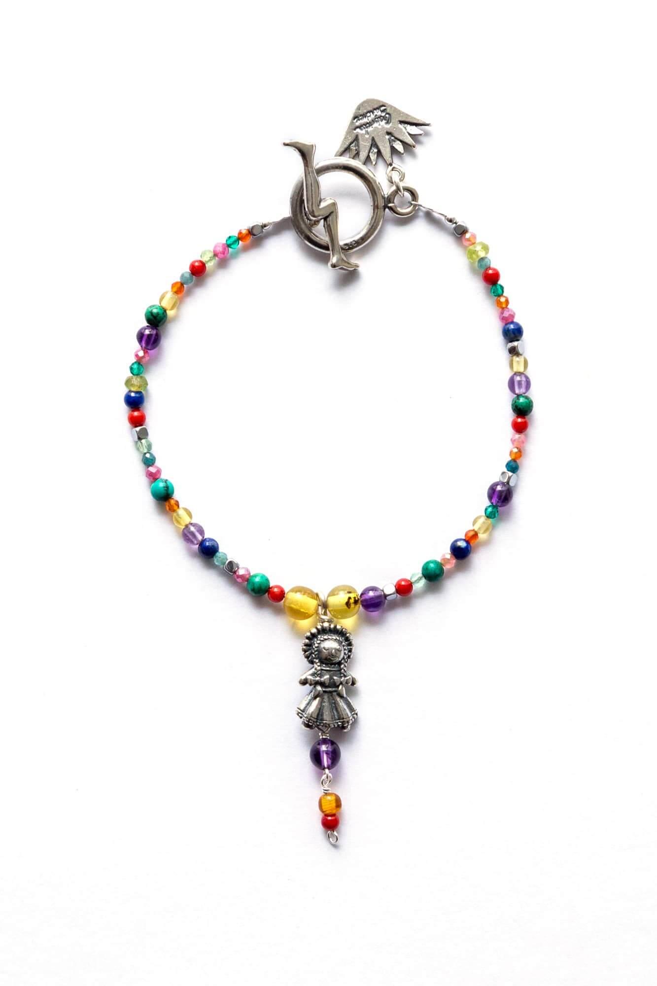 joyas mexicanas gabriela sanchez pulsera muneca mini y piedras de colores pulsera gabriela sanchez