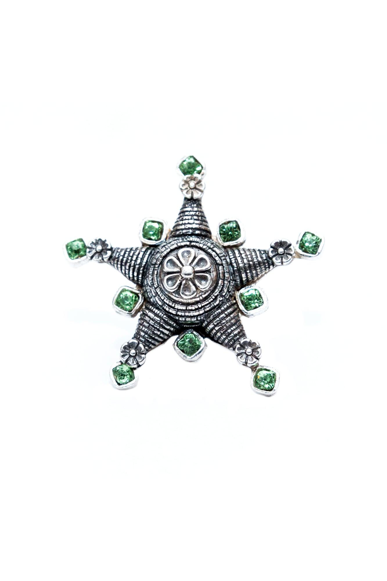 joyas mexicanas gabriela sanchez anillo pinata resplandor verde