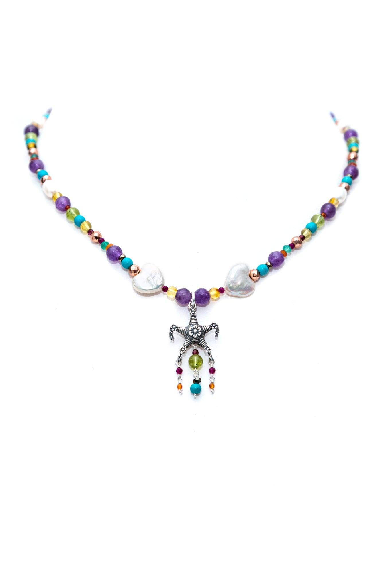 joyas mexicanas gabriela sanchez collar pinata con corazon de perla