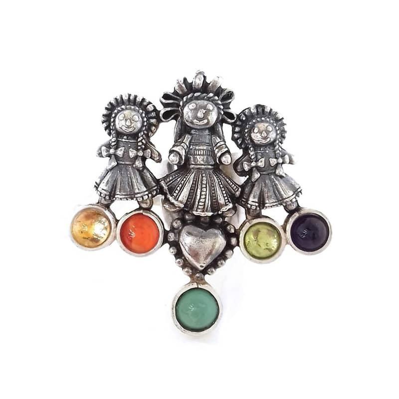 joyas mexicanas gabriela sanchez anillo tres munequitas anillo gabriela sanchez