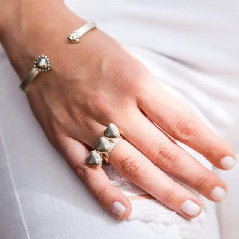 joyas mexicanas gabriela sanchez anillo tres corazon salud anillo gabriela sanchez