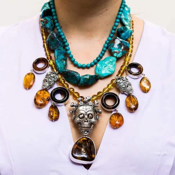 joyas mexicanas gabriela sanchez collar mirada de calaveras collar gabriela sanchez