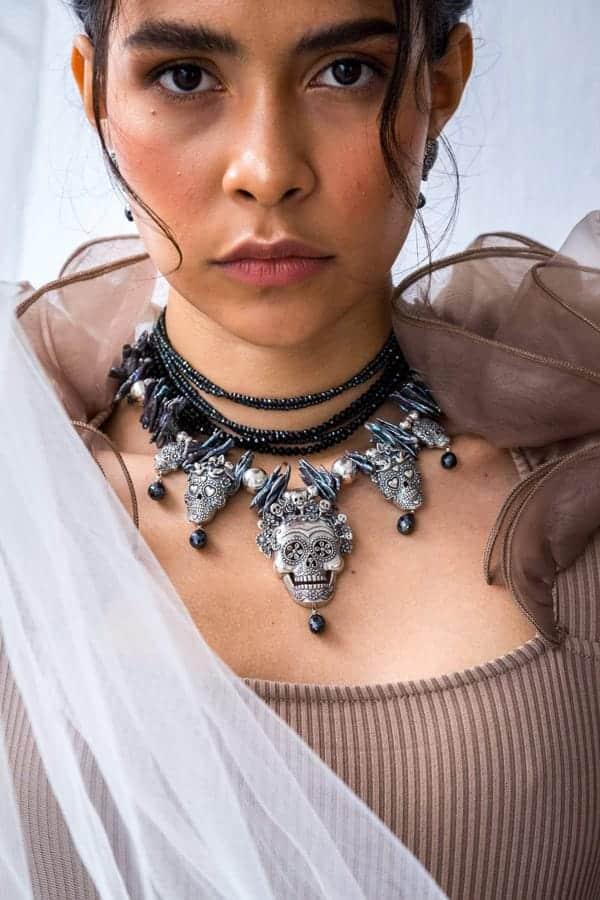 joyas mexicanas gabriela sanchez collar misterio de calaveras collar gabriela sanchez