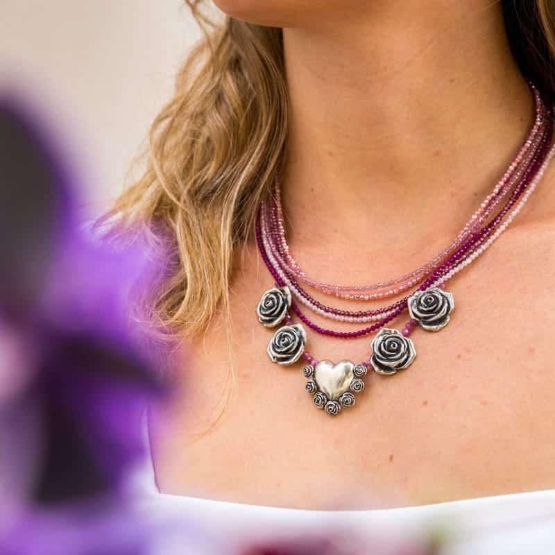 joyas mexicanas gabriela sanchez collar rosas y corazones collar gabriela sanchez