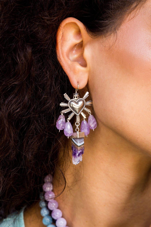joyas mexicanas gabriela sanchez aretes corazon querido mexico drusa aretes gabriela sanchez 28405234401335