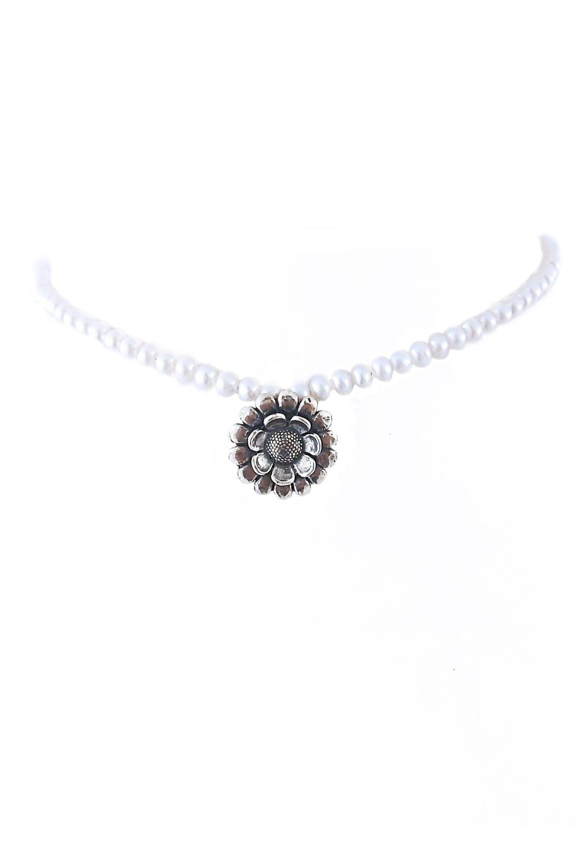 joyas mexicanas gabriela sanchez collar girasol y perlas collar gabriela sanchez 28405340831799