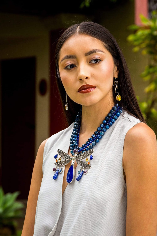 joyas mexicanas gabriela sanchez collar gran cielo azul collar