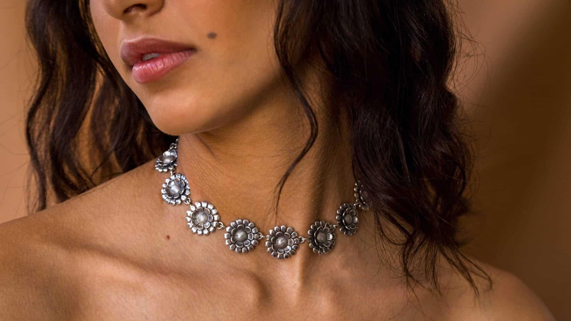 joyas mexicanas gabriela sanchez gargantilla girasoles collar gabriela sanchez 28423591231543