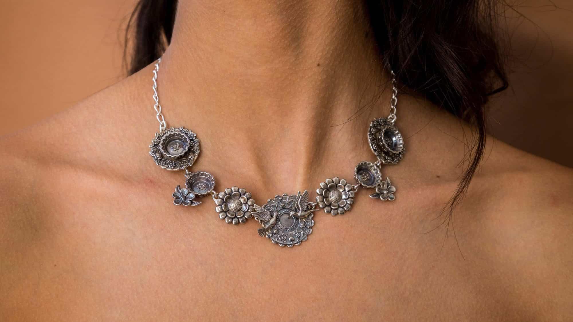 joyas mexicanas gabriela sanchez gargantilla platos collar gabriela sanchez 28455526957111