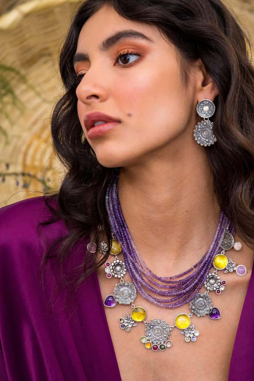 joyas mexicanas gabriela sanchez mi coleccion de platos amatista collar gabriela sanchez 28456768045111